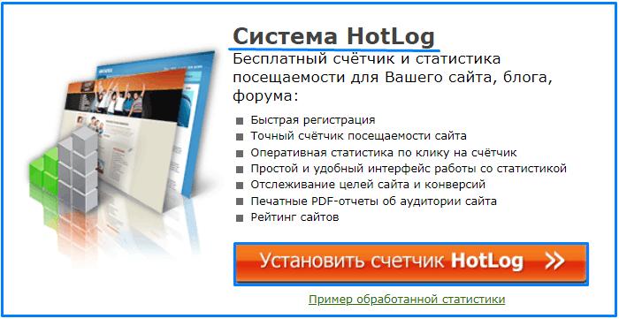 счетчик посещений hotlog